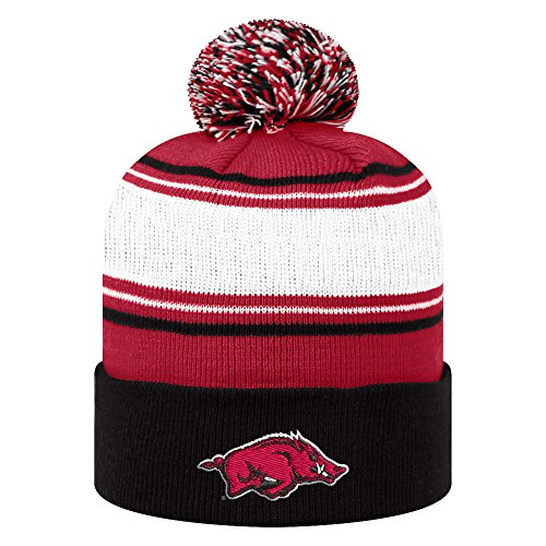 Arkansas Razorbacks Knit Winter Pom-pom Beanie - White - Arkansas Razorbacks Pom Pom