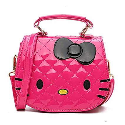 1 cartera para niñas de Hello Kitty, color rosa caliente, con bandolera de color