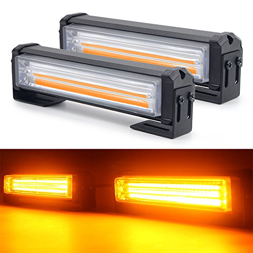 UPC 787893597281, 40W/Set LED Mini Strobe Lightbar, Mesllin Warning Caution Emergency Strobe Light Lamp for Construction Vehicle and Tow Van, 6 Inch (Amber)