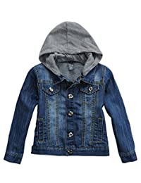 LJYH Big Boys' Basic Denim Jacket Trucker Jacket Stylish Fashion Trendy Coat