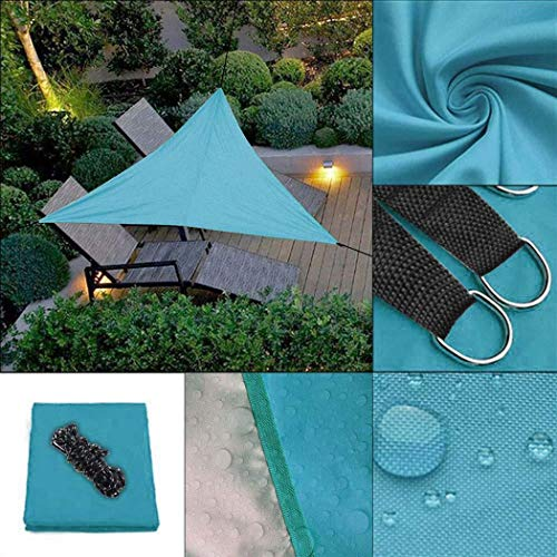 Kindes 118inch Triangle Shape UV Protection Outdoor Sunscreen Awning Canopy Shade Sails