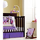 New Baby Girls Purple 8pcs Crib Bedding Set