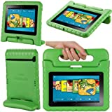"""i-Blason ArmorBox Kido Series for Kindle Fire HD 7 Inch Tablet Convertible Stand Cover Case Kids Friendly (will only fit Kindle Fire HD 7"""" 1st Generation 2012) (Green)"""