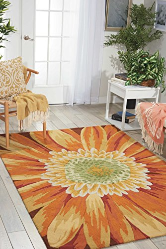 - Nourison Fantasy (FA09) Multicolor Rectangle Area Rug, 5-Feet by 7-Feet 6-Inches (5' x 7'6