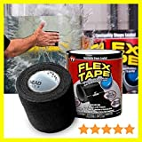 Alfa Mart Original Waterproof Rubberized flex Tape Stop Leaks Seal Sealant Repair Tape to Stop Leakage of Kitchen Sink, Toilet Tub, Water Tank, Pipe Instantly - Black