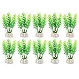 Product review for Uxcell 10-Piece Plastic Aquarium Plant/Grass Decoration, Green