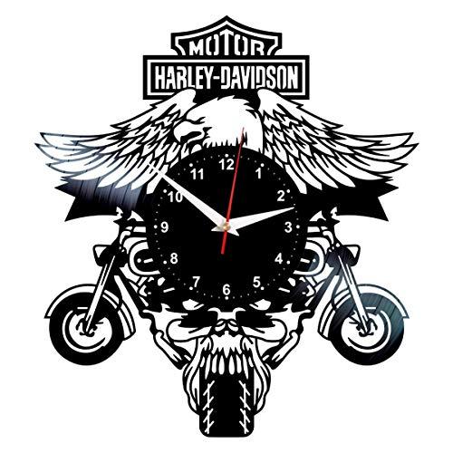 Harley Davidson Vinyl Clock - Vinyl Record Wall Decor - Vintage Harley Davidson Gifts for Men