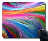VUTTOO® Customized Rectangle Non-Slip Rubber Mousepad Gaming Mouse Pad Fractall Rainbow Ocean