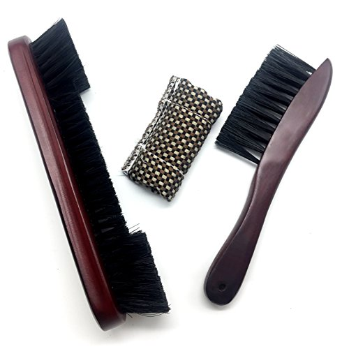 - OESS Billiard Pool Table Rail Brush Wooden Handle Nylon Bristles Set with Cue Shaft Slicker Cloth