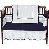 BbayDoll Unique Crib Bedding Set, Navy