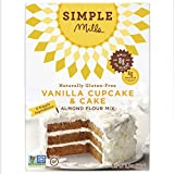 Simple Mills Vanilla Cake & Cupcake Almond Flour Baking Mix, Gluten Free, Paleo, Natural, 9.0 Ounce Boxes (Pack of 3)