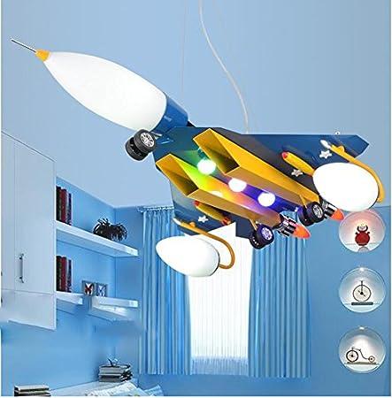 ASL Flugzeug Kronleuchter, kreativ Led Kinder Schlafzimmer Licht ...