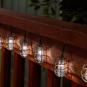 Smart Solar 3761WR20 Cornelius White LED String Lights, 20 Lights, Includes Rechargeable Ni-MH Battery For Up To 8 Hours Of Illumination Each Night
