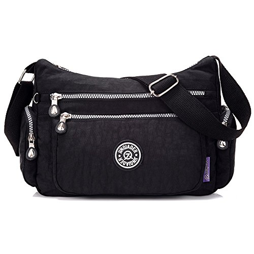 Pack Crossbody Sports Nylon Shoulder Day Bag Bag Leisure Women's Pack Black Messenger SUZone Bag nTwFAzST