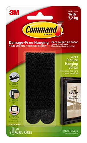 Command Black Picture Hanging Strips, Medium, Decorate Damage-Free -