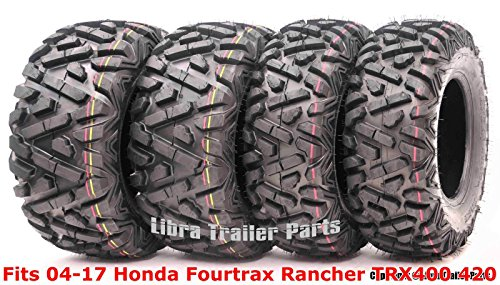 Full Set ATV tires 24x8-12 & 24x10-11 fit for 04-17 Honda Fourtrax Rancher TRX400 420