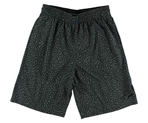 (Nike Mens Jordan Elephant Printed Blockout Basketball Shorts Dark Grey/Black 831372-021 Size Medium)