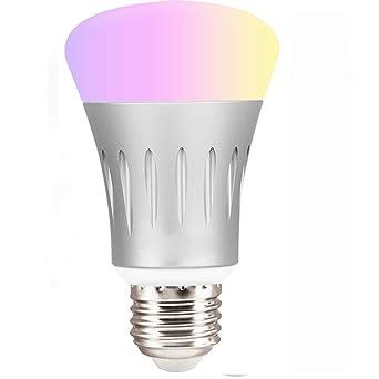 A19 Led7 De Smart Fil Ampoule Changement Couleur Wifi À Sans W ZiPOXku