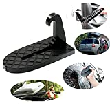 GND Hooked on U Shaped Slam Latch Doorstep with Safety Hammer Function for Easy Access to Car Rooftop Roof-rack,Doorstep for Car, Jeep, SUV (Black, Universal)