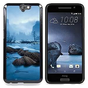 "Qstar Arte & diseño plástico duro Fundas Cover Cubre Hard Case Cover para HTC One A9 (Snowy River"")"
