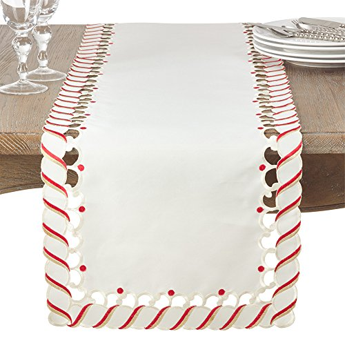 - Fennco Styles Candy Cane Design Christmas Holiday Table Runner 16