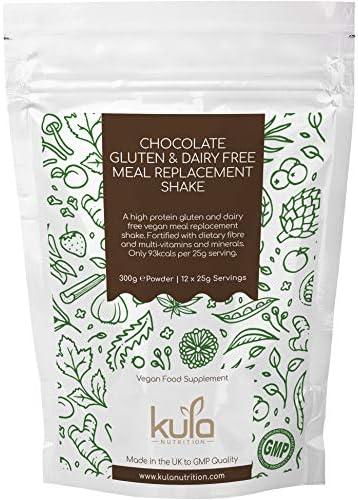 Vegane Milchprodukte & Glutenfreie Mahlzeit-Ersatz-Shakes für die Unterstützung von Gewichtsverlust - 300g - Schokolade Slim Shake - Low-Kalorien-Diät-Drink - Proteinreich, wenig Zucker, wenig Fett.