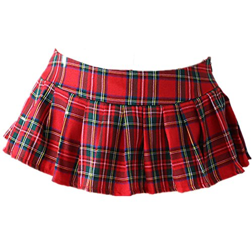 0d03356332 Amazon.com  Embiofuels - Plus Size Lingerie Sexy Hot Erotic Costumes  Cosplay School Girl Uniform Plaid Sexy Mini Pleated Skirts Sexy Babydoll   XXL   Beauty