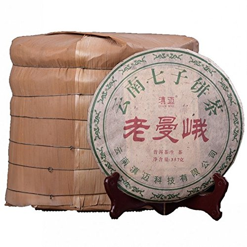 Dian Mai Whole raises 7 cakes 05 years old mandarin ancient tree Pu'er tea 357 g/cake Total 2499G 13 years Kunming pure dry storehouse 整提7饼05年老曼峨古树普洱生茶357克/饼 共2499G 13年昆明纯干仓 by Dian Mai 滇迈