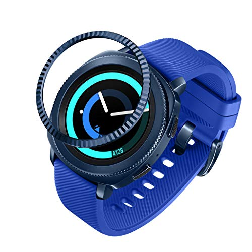 Ring Adhesive Cover Bezel Anti Scratch Metal for Samsung Galaxy Watch 42MM Blue