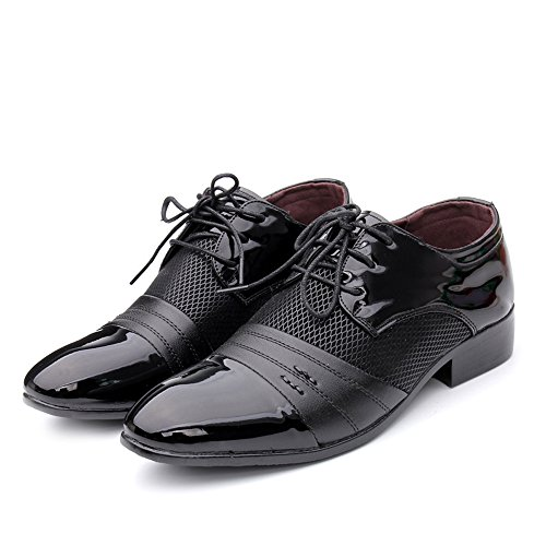 BMD Shoes PU in Marrone pelle Color e stringate uomo cuciture uomo pelle superiori stringate di da Scarpe EU Nero Scarpe Dimensione Smooth da con 38 qqPdvCwr