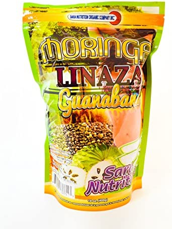 Natural Moringa Oleifera Premium Superfood Weight Loss Linaza Guanabana Flax Seed chia Aloe Vera,Cactus Pineapple caralluma Soursop 14 oz