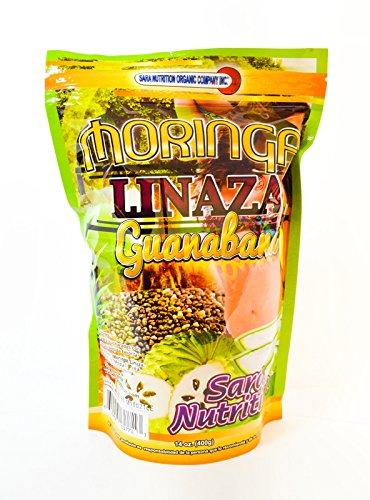 Natural Moringa Oleifera Premium Superfood Weight Loss Linaza Guanabana Flax Seed chia aloe vera,cactus pineapple caralluma Soursop 14 oz Review