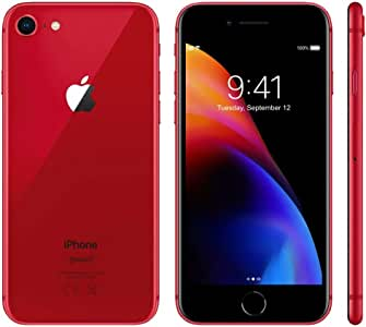 Apple iPhone 8 Red 64GB SIM-Free Smartphone (Renewed)