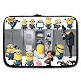 EASY LIFE STYLE Custom Neoprene Notebook Sleeve Cute Despicable Me Minion Sleeve For Macbook Pro 13 inch (Twin Sides)