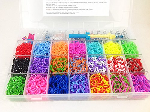 58 opinioni per GadgetinBox™- Bande Loom Kit fasce XL, insieme con 21 colori 4200 Loom Bandz e