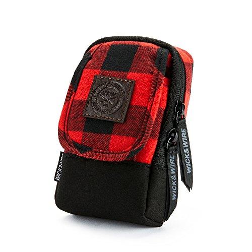 Stash Case (Red Plaid) Vape Case, Premium Vape Bag, Portable Vape Pen Case, Vape Travel Case, E-Juice Holder, E-Cig Pouch, Mech Mod, PAX, Aspire (Red Plaid) (Aspire E Juice)