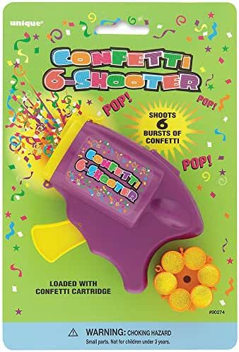 Confetti Six Shooter with 12 Rounds