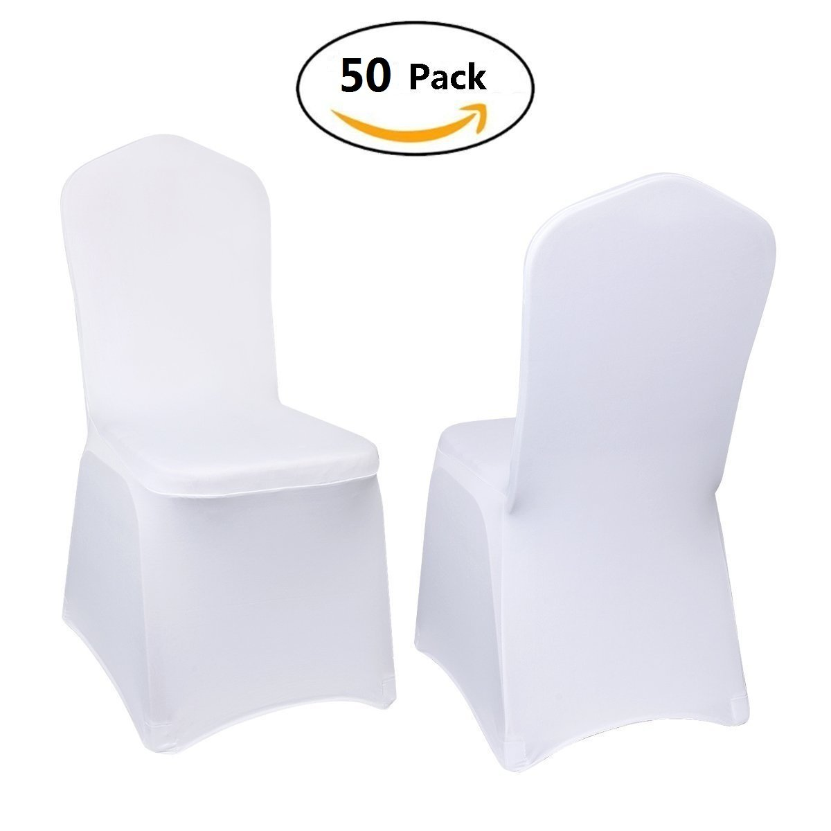 Stretch Polyester Spandex Dining Chair Cover Including 4 x Elasticated & Rugged Pockets for Wedding or Party Use by Yoshioe