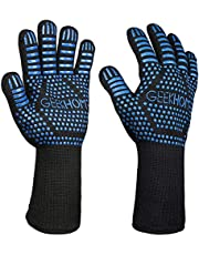GEEKHOM BBQ Gloves,1472℉ Heat Resistant grill Gloves, Non Slip Oven Mitts for Smoker, Cooking & Fire Pit