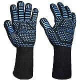 "GEEKHOM GEEKHOM2 BBQ Cooking Grill Gloves, 14"" Extreme Heat Resistant Kitchen Gloves, EN407"