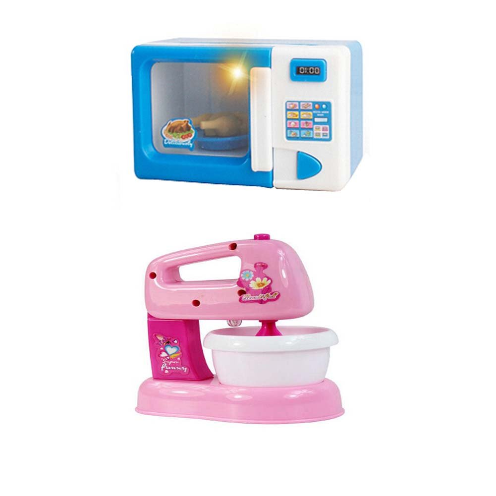 Lovely Home Appliance Model Toys Kids Life Educational Toys,Microwave Oven&Mixer