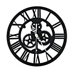 SING F LTD Wall ClockVintage Retro Roman Numeral Steampunk Wall Clock Compatible with Home DecorGold 6