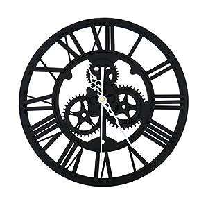 Wall Clock,Vintage Retro Roman Numeral Steampunk Wall Clock For Home Decor,Gold