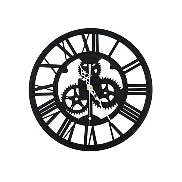 SING F LTD Wall ClockVintage Retro Roman Numeral Steampunk Wall Clock Compatible with Home DecorGold 3