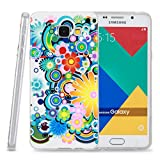 Kit Me Out CAN® Samsung Galaxy A3 (2016) [Shock Absorbing] [Thin Fit] TPU Gel Case Cover Skin Pouch - Multicoloured Circles With Flowers
