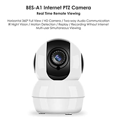 Wireless HD Pan//Tilt IP Security Camera Network CCTV Night Vision WiFi Webcam