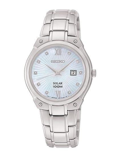 Reloj Seiko Solar Sut213p1 Mujer Nácar