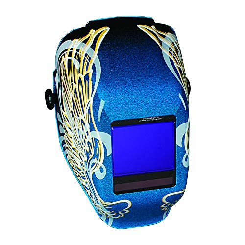 JACKSON SAFETY 46111 True Sight II Digital Variable ADF Welding Helmet with Balder Technology, Halo X, Universal, Gold Wings