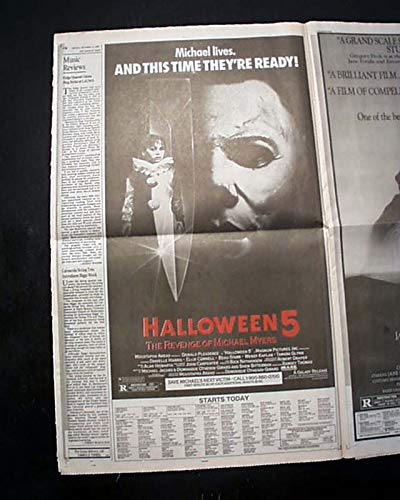 Best HALLOWEEN 5 Slasher Film Michael Myers Movie