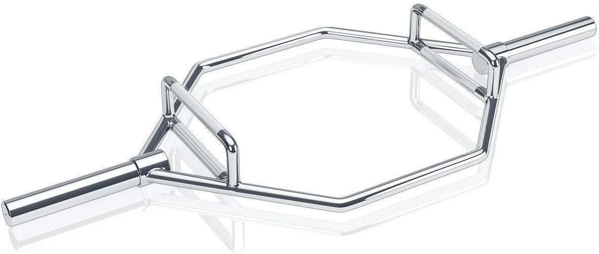 USA_Best_Seller Barre hexagonale en Acier Massif chromé avec 2 poignées 147,9 cm Finition chromée